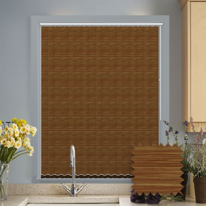 Made to Measure Morocco Wheat Brown Vertical Blind - Just Blinds